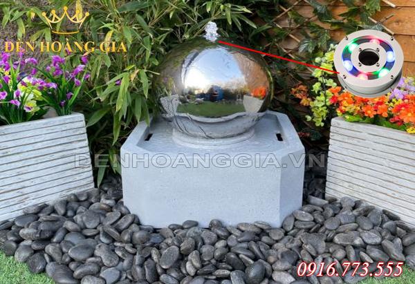 Đài phun nước hình cầu (Mẫu 3)