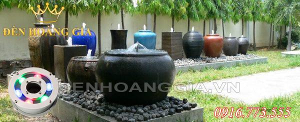 Đài phun nước mini từ bình gốm (Mẫu 3)