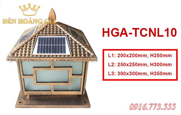 Mẫu đèn trụ cột Solar HGA-TCNL10