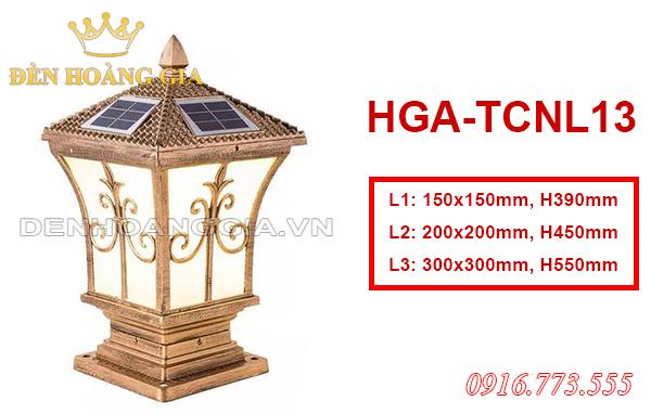 Mẫu đèn trụ cột Solar HGA-TCNL13