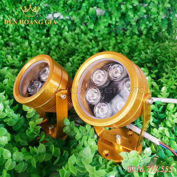 Bộ đôi Đèn led chiếu cây ly vàng và 6w