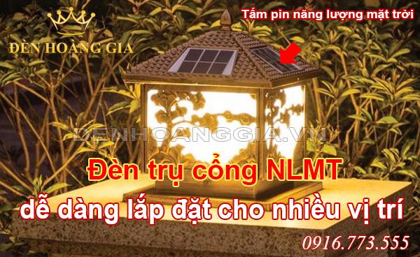 Đèn trụ cổng năng lượng mặt trời dễ dàng lắp đặt cho nhiều vị trí