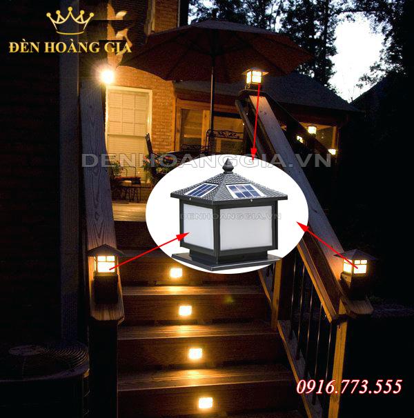 Lắp đèn năng lượng mặt trời cho trụ lan can, cầu thang