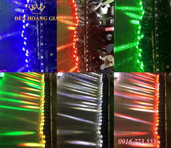 Đèn rọi cột có 2 loại chính là đơn sắc và đổi màu
