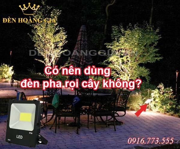 đèn pha rọi cây