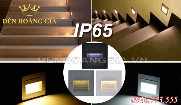 Đèn hắt chân cầu thang 3w màu trắng, đen, ghi hình vuông