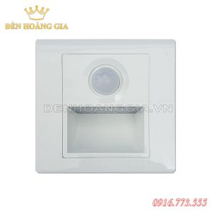 Đèn led chân cầu thang cảm biến 1.5w HGA-ACT01CB (Mặt trắng - Trong nhà)