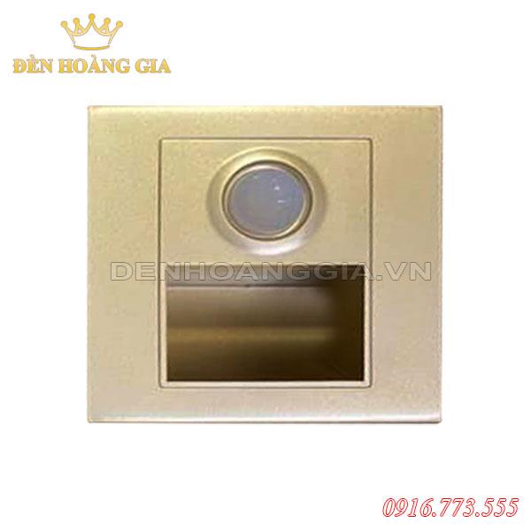 Đèn led chân cầu thang cảm biến 1.5w HGA-ACT03CB (Mặt vàng - Trong nhà)