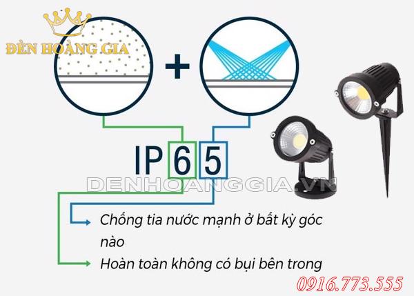 Đèn led ngoài trời chống nước IP65